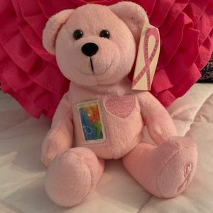 USPS Breast Cancer Awareness bear with Stamp NWT